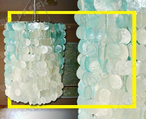 Popular Capiz Shell Chandelier Lamp Lights