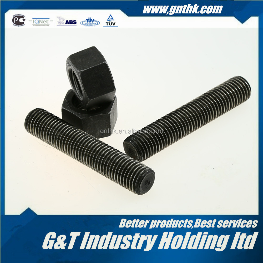 "STUD BOLT 2-1/4*LENGTH(from 25mm-10000mm or 1""-32FT) ASTM A193 B7 PLAIN FULL THREADED"