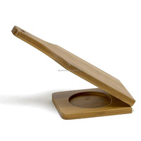 New Design Natural Large Bamboo Kitchen Tools Tostonera With Handle and Hole for Hanging on Wall