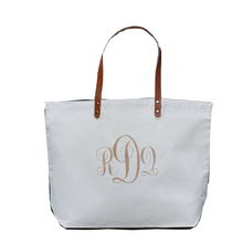 BT001 Personalized Custom Monogram Large Canvas Beach Tote Bag Wholesale