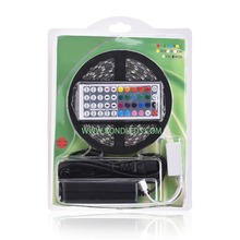 Blister full color ws2812 Led Flexible Strip with 12v adapter Kit with 3M tape
