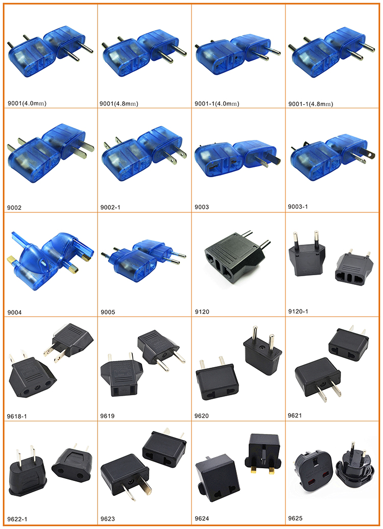 Fast Delivery US to Europe Type Plug Travel Adapter to Malawi
