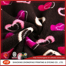 Micro Fiber Material China Factory Dty/Fdy heart printed fabric