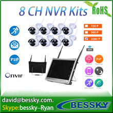 11 inch screen 1080p cctv system wireless wifi ip camera security nvr kit