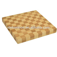 square bamboo end grain cutting board