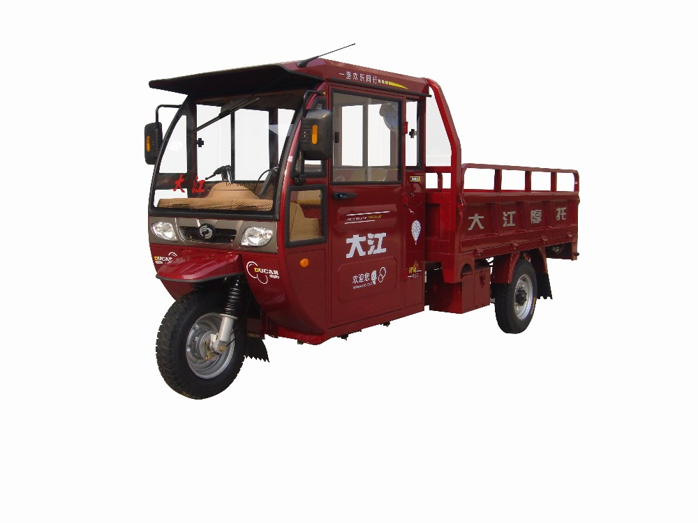gasoline cargo tricycle with close cabin