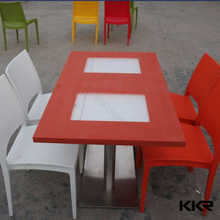 Korean 700*700mm solid surface table tops for kitchen