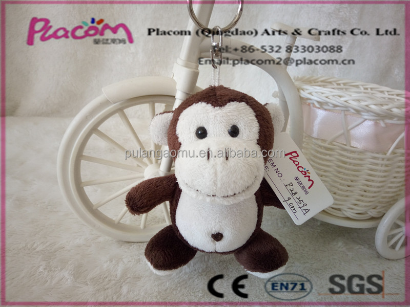 New design Lovely Fashion High quality Customize Promotional gifts and Holiday gift Plush Keychains Monkey