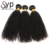 Kinky Curly Grade 11A  Hair Bundle,  Best Quality Double Drawn Weft Natural Virgin Black Human Hair Weaving