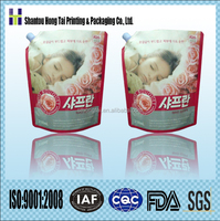 detergent liquid flexible packaging printed plastic packing bag with spout for 1 liter/1.5 liter/2 liter/3 liter volume