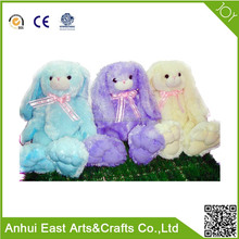 SOFT RABBIT FOR EASTER THREE COLORS WITH HAND MADE EASTER STUFFED BUNNY TOY