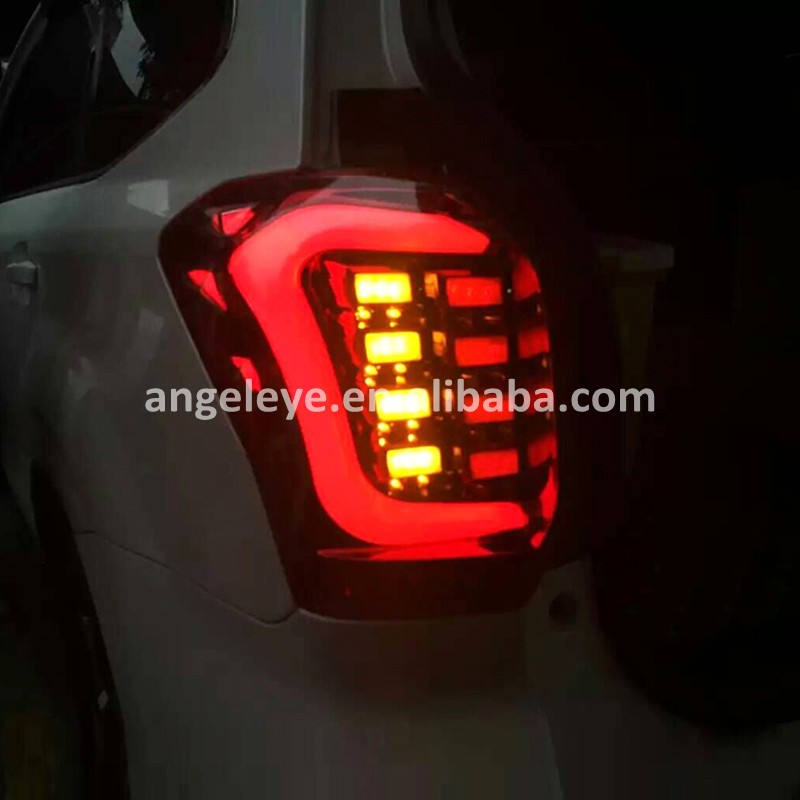 For Subaru Forester Tail lamp LED Rear lights for Forester 2013 to 2015year Red Bottom Smoke Cover TW