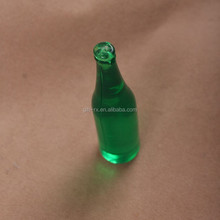 Promotion Plastic Beer Bottle Shape with your own Logo Keychain,bottle kering