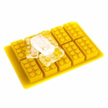 decorate building blocks design colorful silicone molds/ice tube tray for kitchen tools