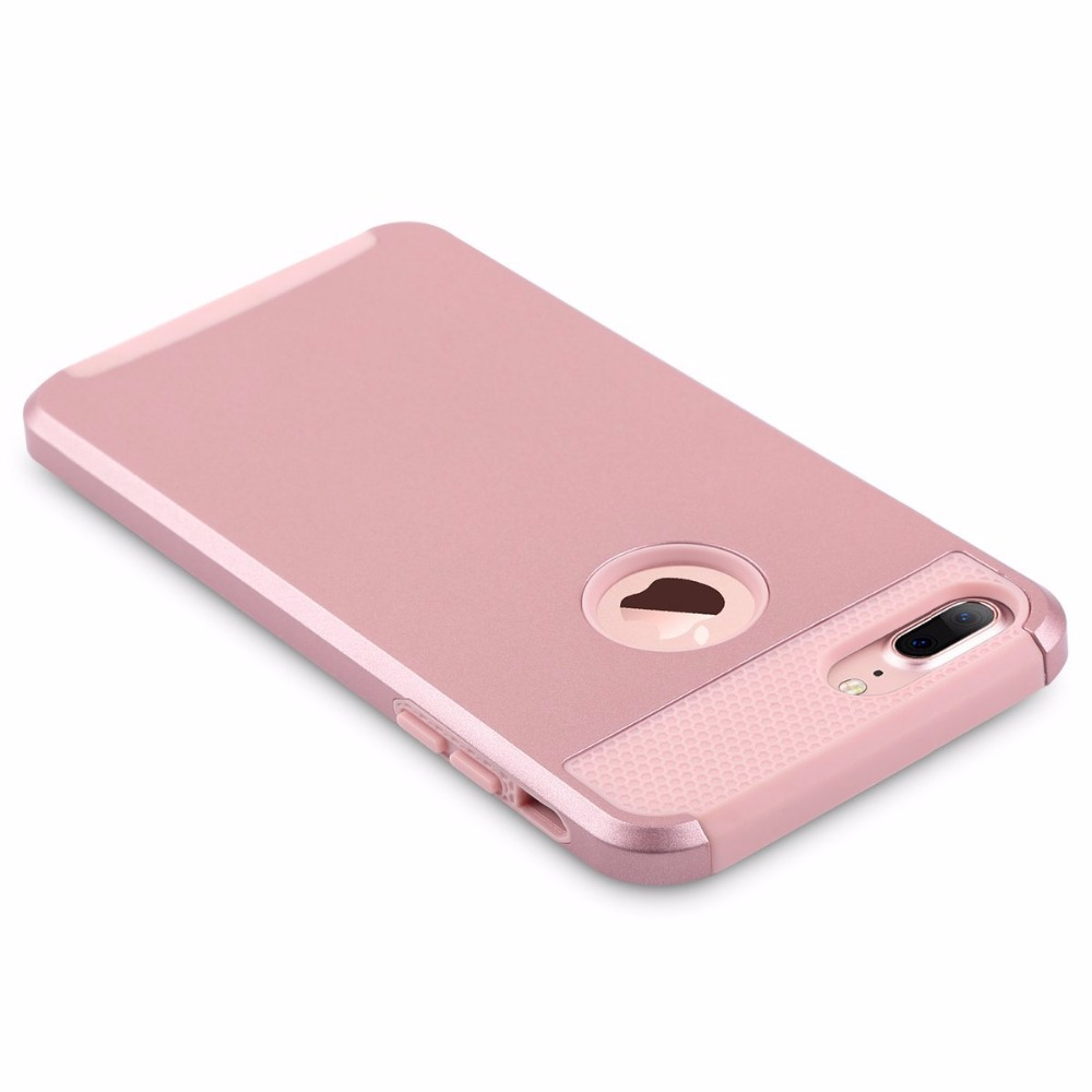 Luxury Textured PC and TPU Case Cover for Apple iPhone7