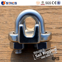 rigging highly polished us wire rope stainless steel clamp type 316