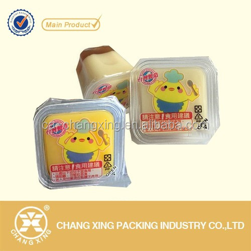 Easy peel off printing cup sealing film for plastic containers/ plastic yogurt cup lid