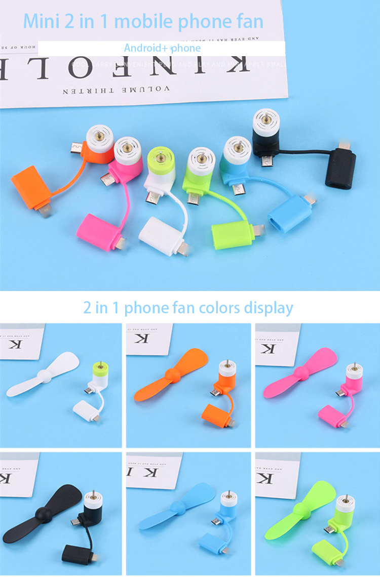 Hand Mini 2 in 1 mini usb fan for phone usb mobile phone fan