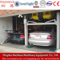 Auto workshop two post clear floor car elevator /two poles car maintenance equipment