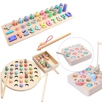 wholesale educational shape matching magnetic fishing game toys for kids