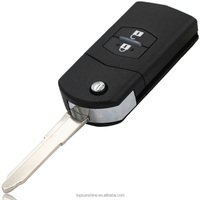 2 Buttons Folding Flip Key Remote Keyless Entry Replacement For Mazda