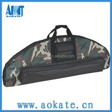 soft camoflage archery bow case for hunting
