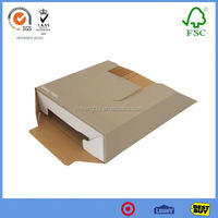 white foldable box with black colour and ribbon custom garment box packaging