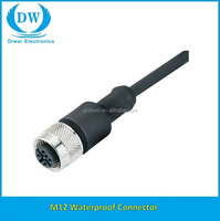 M12 Connector 5pin simple design waterproof power cable Fastest delivery