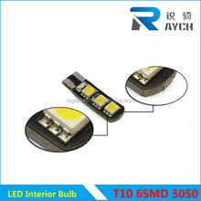 direct sales T10 5050 6SMD LED Fog lamp Color Change Colorful Clearance light 15 modes Flash Fog LED bulb Smart LED Car Light