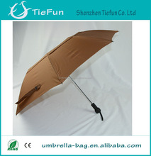 Auto open 3 fold umbrella outdoor double roof umbrella for windproof