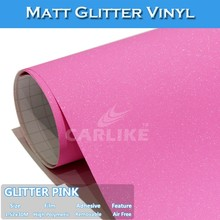 CARLIKE Stretchable Pink Matt Glitter Buy Vehicle Vinyl Wrap Prices