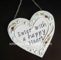 cute resin key and phone chain with heart shape 5cm length