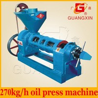 YZYX120 big pressure 4 steps oil press machine to extract soybean oil