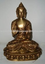 Buddha carved w/blessing hand
