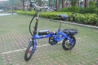 14 inch mini folding carbon steel frame electric bike made in china