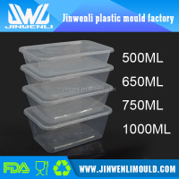 Clear plastic food disposable container disposable food box