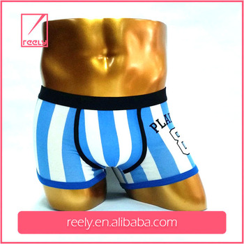 Custom 95 Cotton 5 Elastan Boxer Men Underwear Your Brand Open Flap Boxer Shorts with Pocket Wide Elastic Waistband
