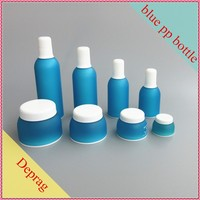 2016 new Korea style PP blue high end cosmetic bottles