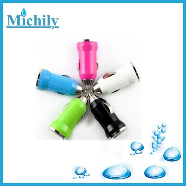 Best selling colorful usb mini car charge for iphone/ipad with high quality
