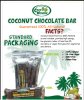 High Quality Coconut Dietary Dark Chocolate Bar - (vegan, non-dairy & with coconut nectar)