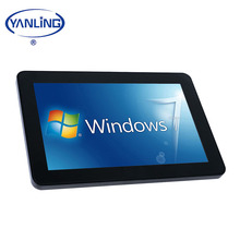 10.1'' Embedded touch screen panel pc Quad core J1900 industrial grade computer with fan cooling
