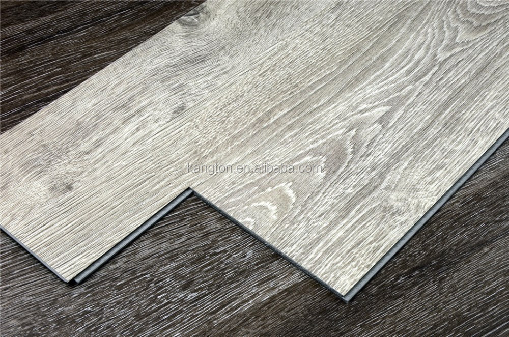 5mm 6mm non slip interlock floating commercial pvc for Pvc wood flooring