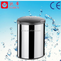 Round stainless steel containers waste rubbish bin