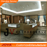 High end jewellery showroom furniture design , retail customized jewelry shop interior design , glass jewelry display table