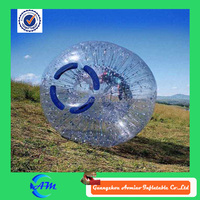 Newly invented product, beautiful football inflatable body zorb ball for sale