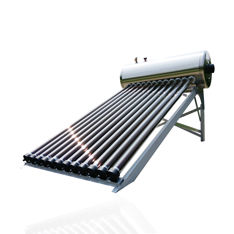 High quality 100l 12 tube solar water heater pressurized