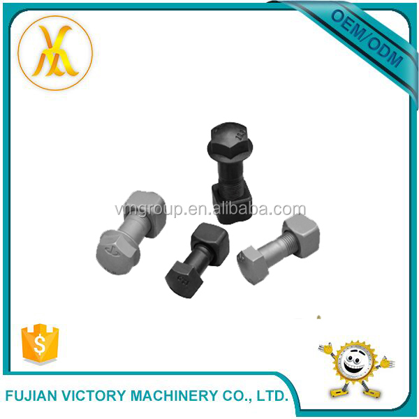 Good Quality Excavator Spare Parts track bolts Standard Size Machine Track Shoe Bolt And Nut