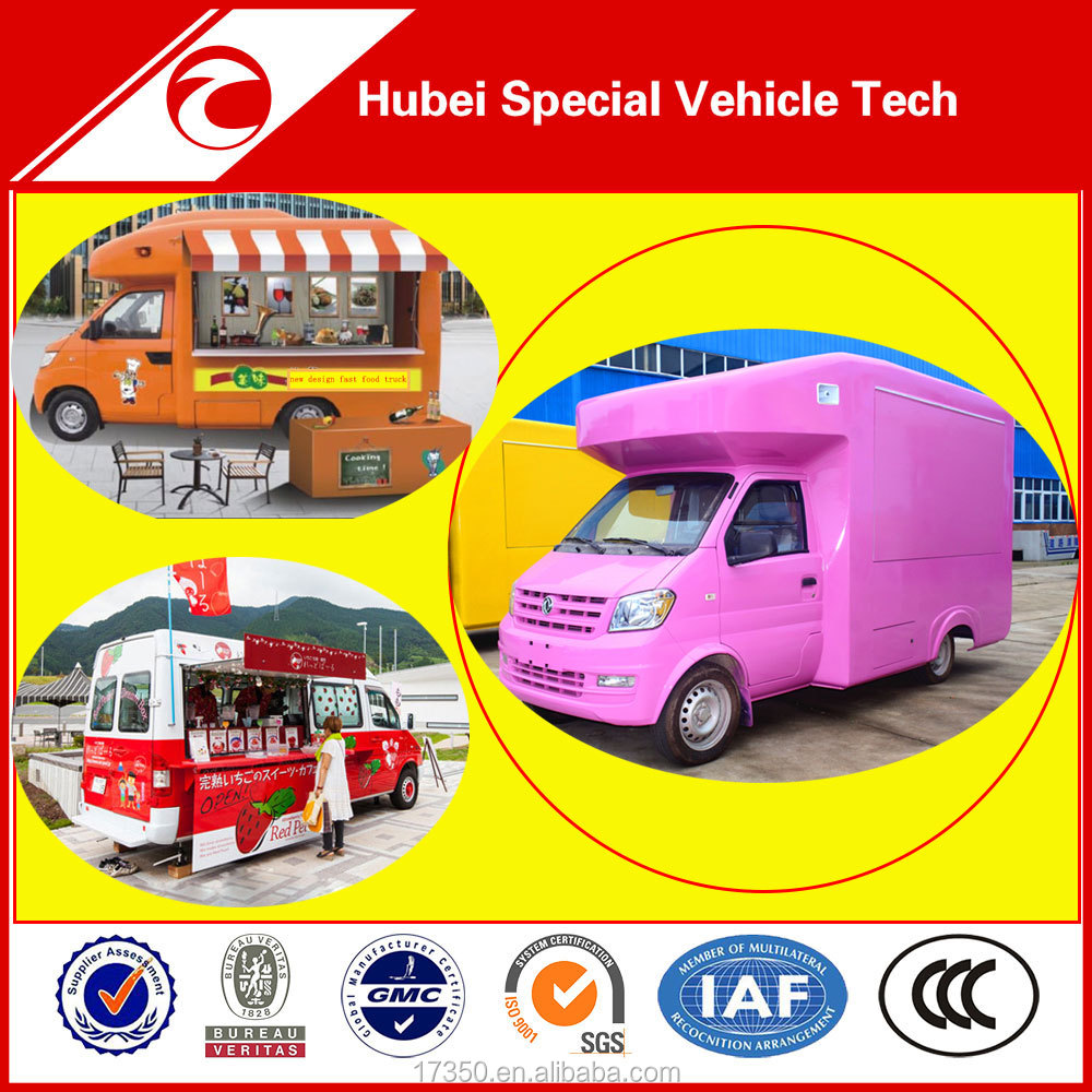 Dongfeng new condition mini mobile fast food truck for sale with china supplier