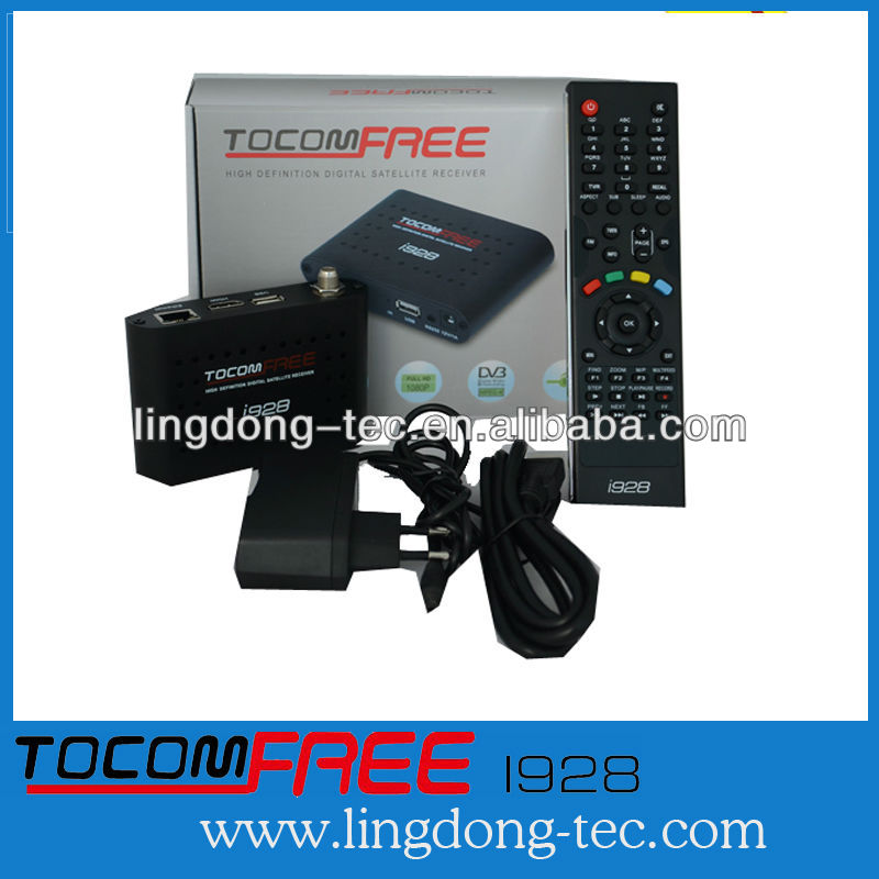 2014 new satellite receiver tocomfree i928 iks free very stable for South America