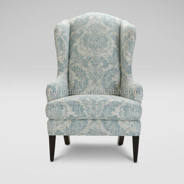 hotel high wing back accent chair